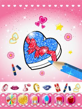 Glitter beauty coloring and drawing screenshot 12