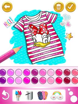 Glitter dress coloring and drawing book for Kids screenshot 13