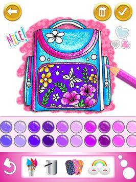 Glitter dress coloring and drawing book for Kids screenshot 18