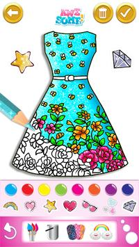 Glitter dress coloring and drawing book for Kids screenshot 2