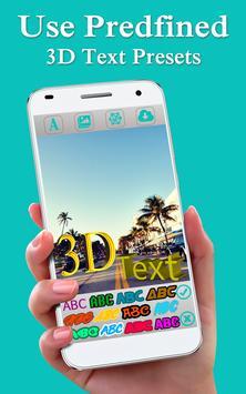 3D Text Photo Editor Lite-3D Logo Maker & 3D Name screenshot 1