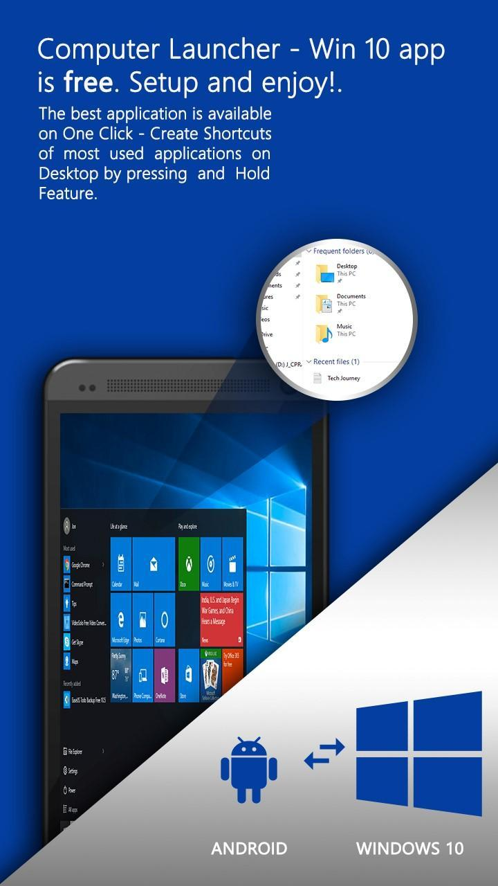 windows 10 launcher for android free download
