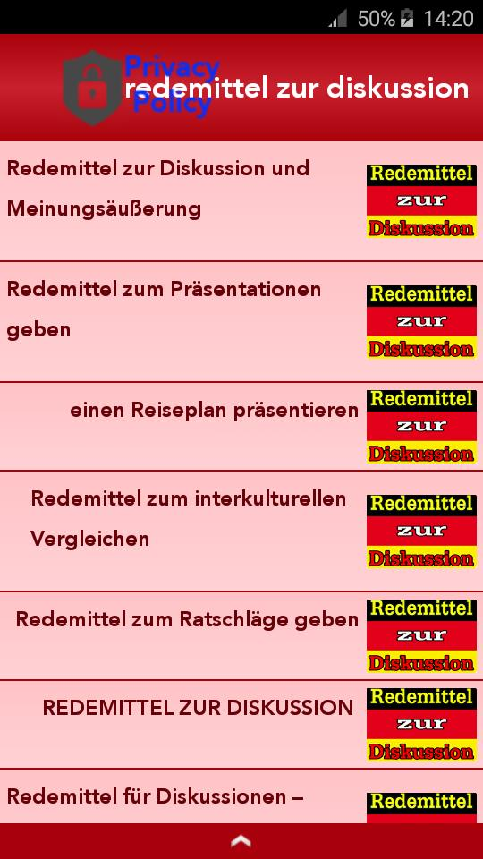 Redemittel zur Diskussion 2019 for Android - APK Download
