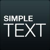 Simple Text icono