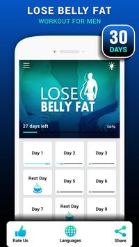 Lose Belly Fat for Men - Lose Weight Home Workouts poster