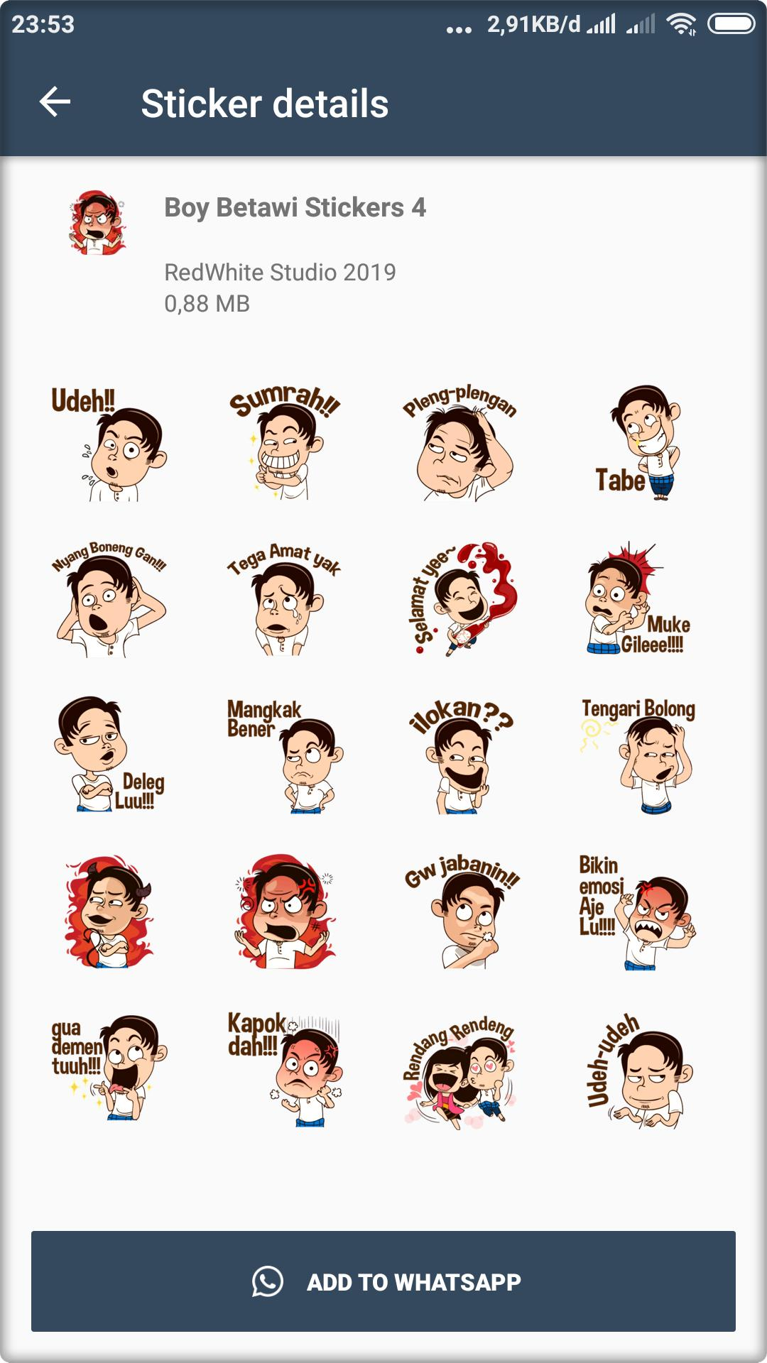 Stiker Betawi Lucu Wastickerapps For Android Apk Download