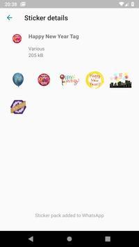 Happy New Year Stickers (WAStickerApps) screenshot 4