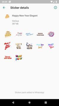 Happy New Year Stickers (WAStickerApps) screenshot 2