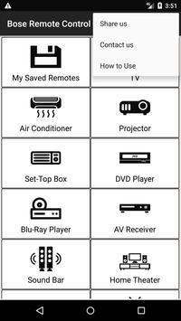Bose Remote Control screenshot 1