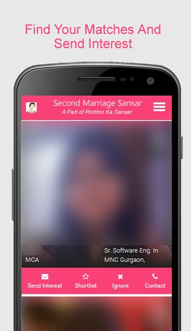 Second Marriage Sansar Remarriage Matrimonial for Android - APK Download