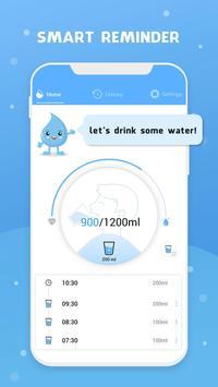 Wassererinnerung - Wasser trinken erinnern Plakat