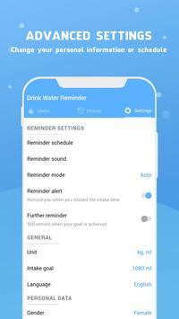 Wassererinnerung - Wasser trinken erinnern Screenshot 6