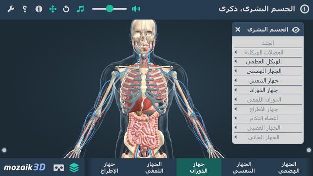 الجسم البشري، ذكري التفاعلي ثلاثي الأبعاد VR تصوير الشاشة 3
