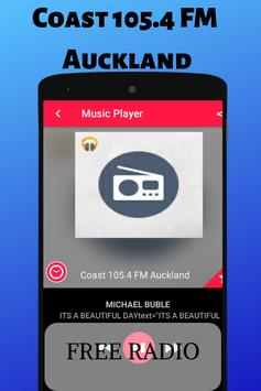Coast 105.4 FM Auckland NZL Radio Station Live HD スクリーンショット 3