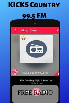 KICKS Country 995 FM Augusta Free Internet Radio