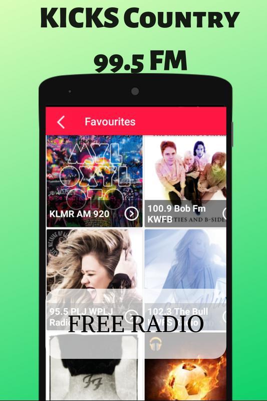 KICKS Country 995 FM Augusta Free Internet Radio 1