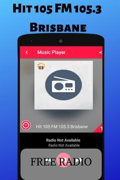 Hit 105 FM 105.3 Brisbane Free Internet Radio Live poster