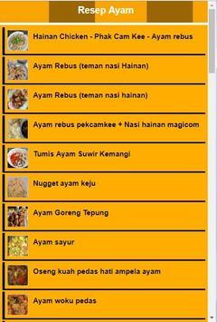 Resep ayam pilihan poster