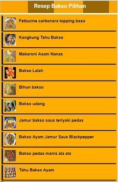 Resep Bakso Pilihan poster