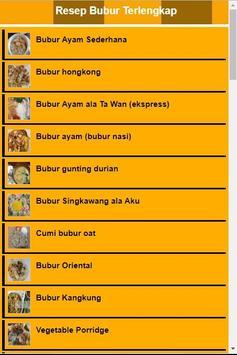 Resep Bubur Terlengkap poster