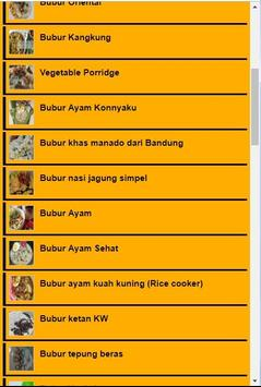Resep Bubur Terlengkap screenshot 1