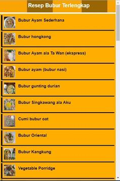 Resep Bubur Terlengkap screenshot 2