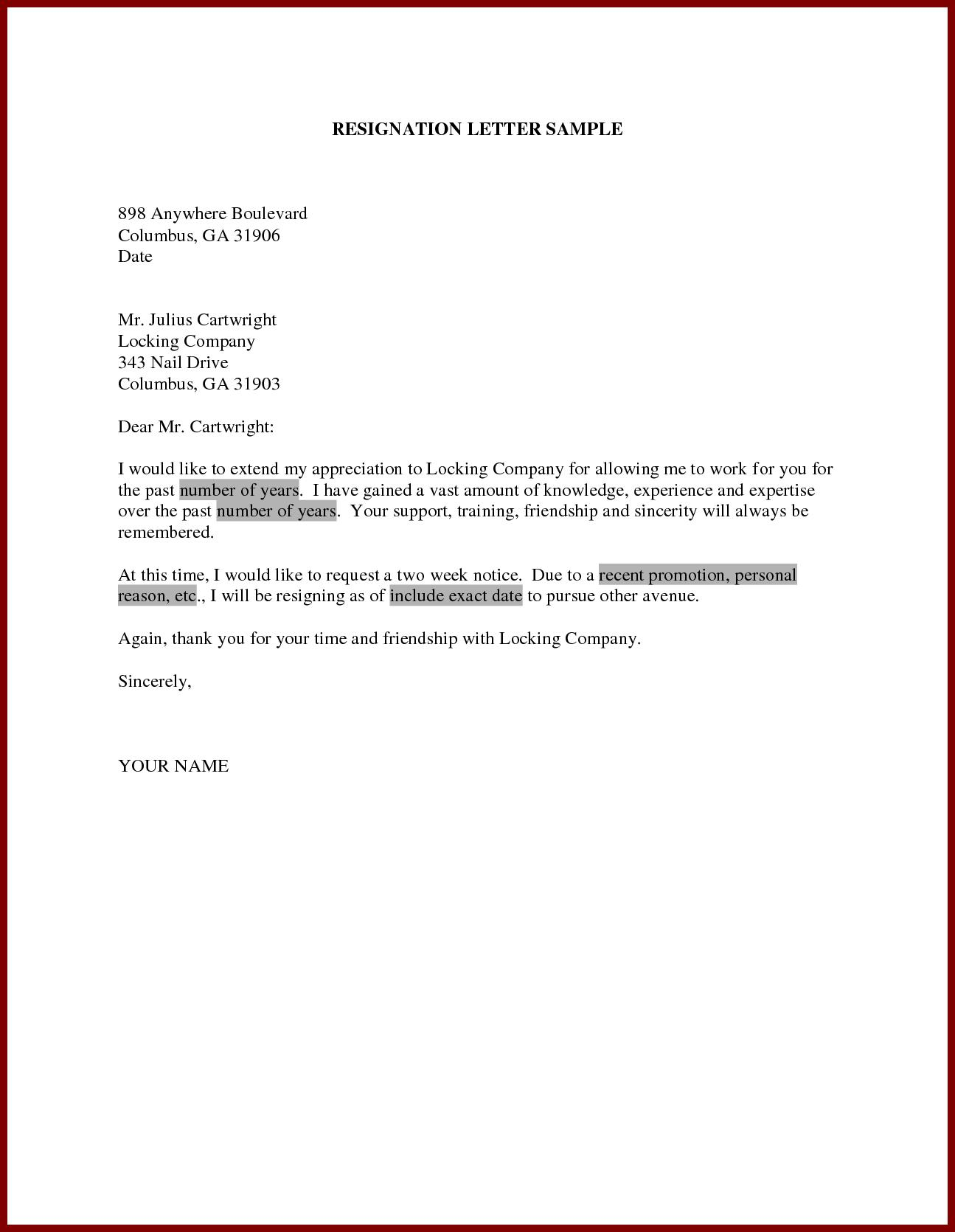 Short Notice Resignation Letter from image.winudf.com