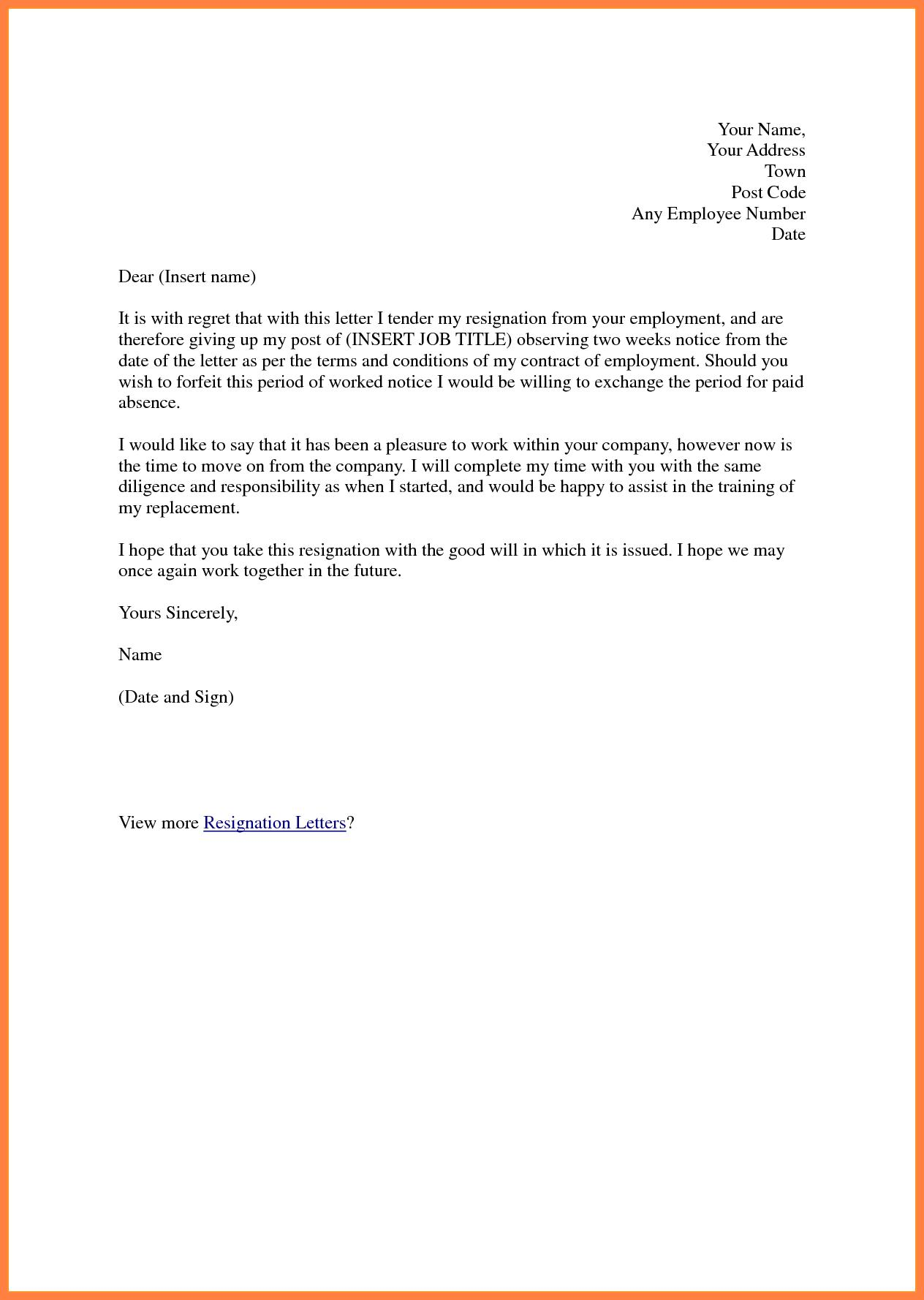 Resignation Letter Formats for Android - APK Download