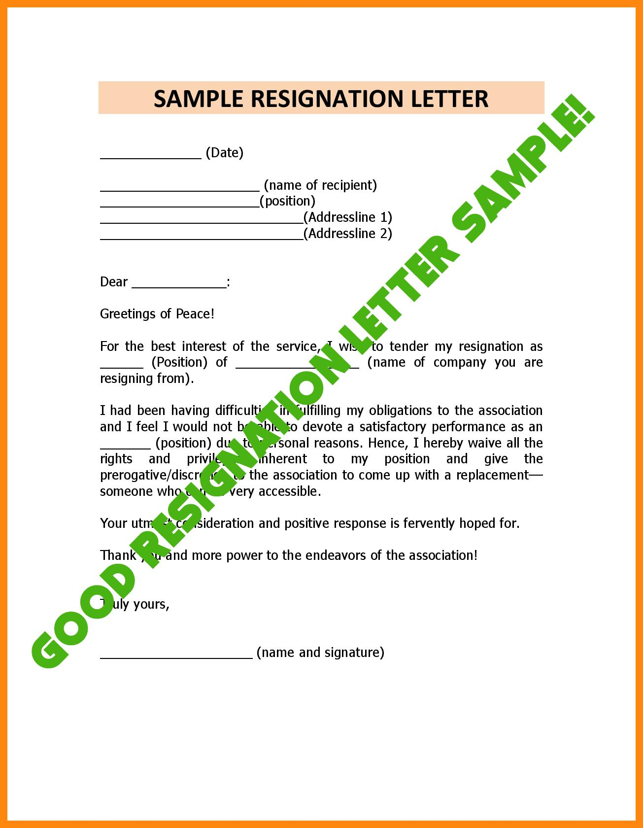 Formal Resignation Letter Examples from image.winudf.com