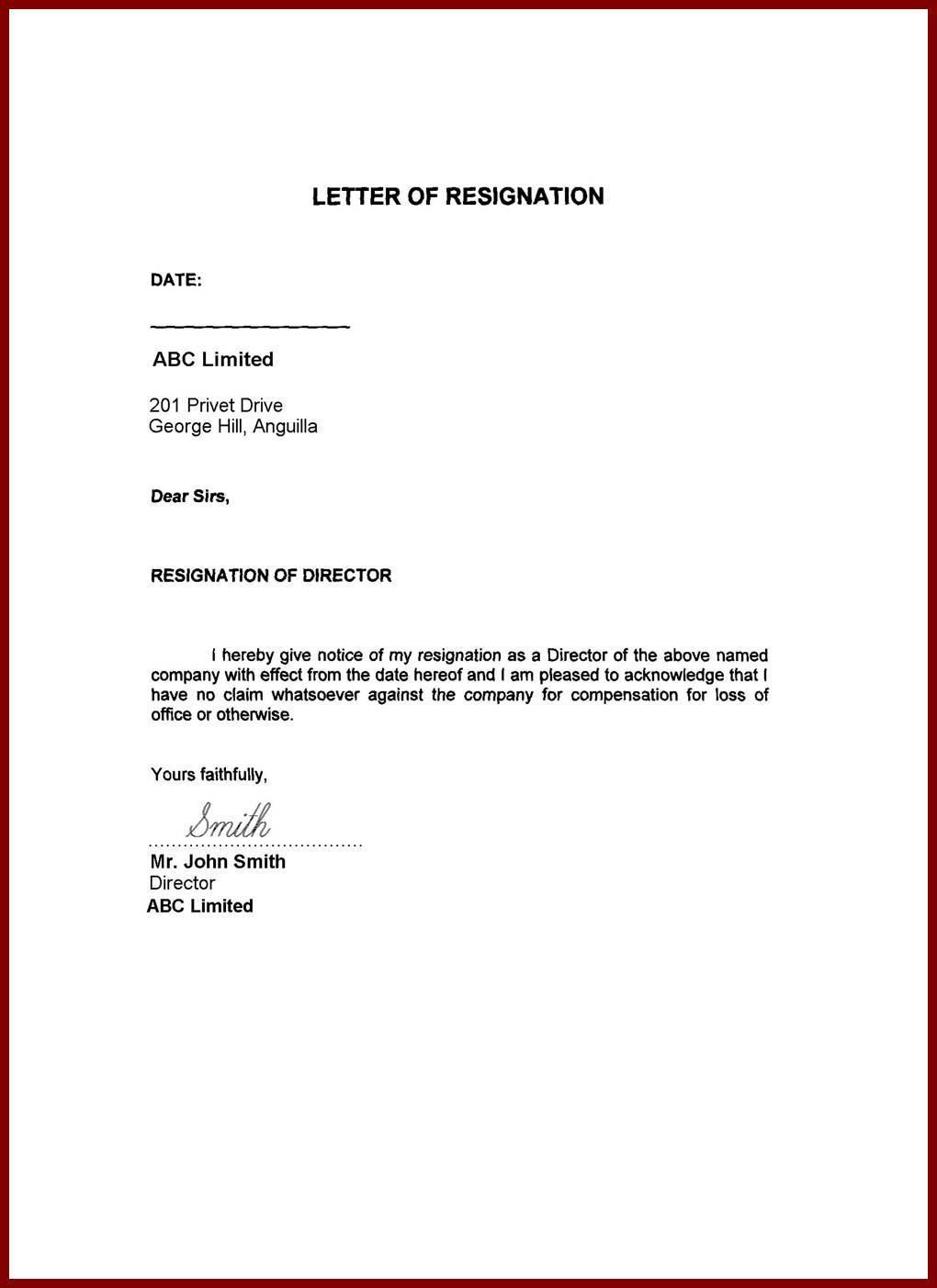 Resignation Letter Samples für Android - APK herunterladen