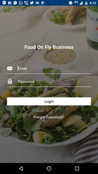Food On Fly Business App poster