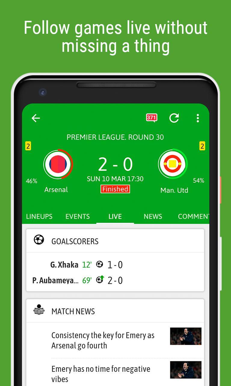 BeSoccer screenshot 1