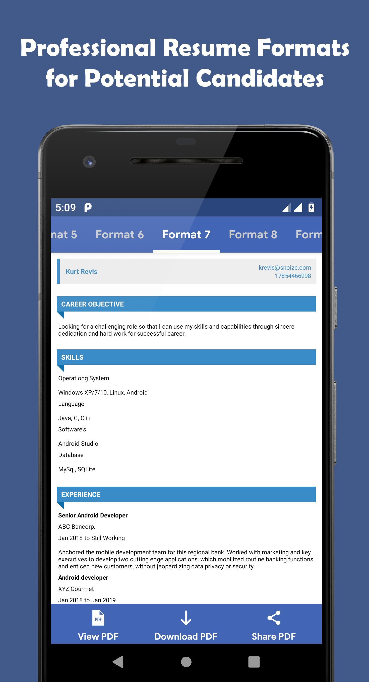 Resume PDF Maker - CV Maker for Android - APK Download