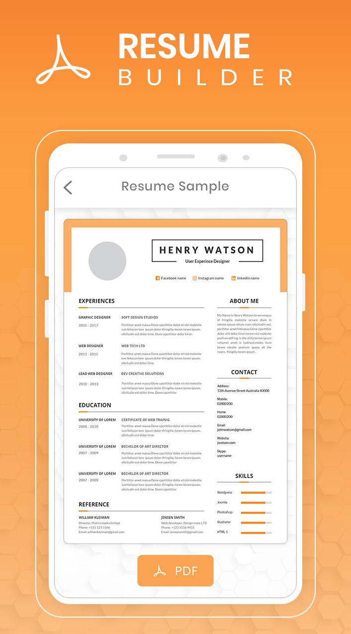 Resume Builder Free 5 Minute Cv Maker Templates For Android Apk Download