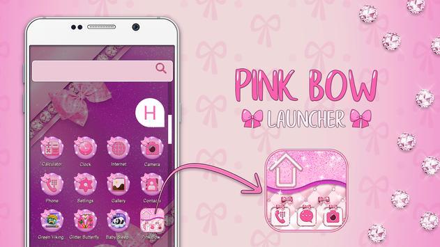 Pink Bow Launcher screenshot 3
