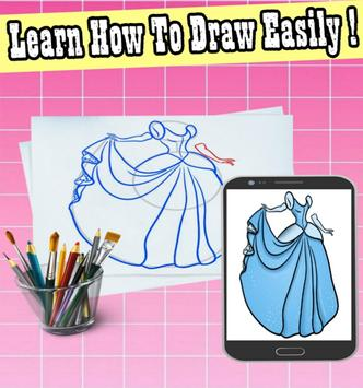 how to draw a dress poster
