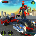 Light Bike Hero City Rescue Superhero Bike Games