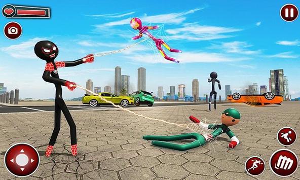 Spider Stickman Superhero : Stickman Games screenshot 1