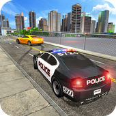 US Police Car Chase Crime City : Car driving Games icon