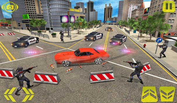 US Police Car Chase Crime City : Car driving Games screenshot 9