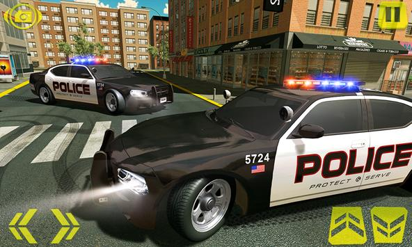 US Police Car Chase Crime City : Car driving Games screenshot 1
