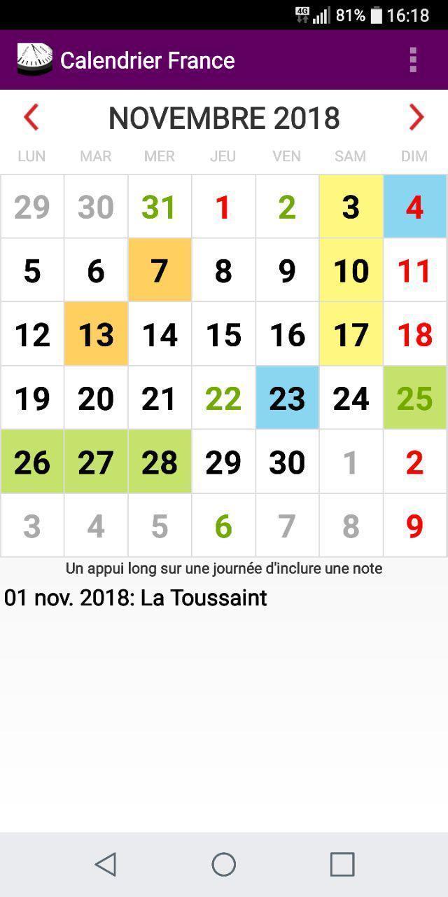 Calendrier 2020 Avec Jour Ferie.Francais Calendrier 2020 Feries Et Fetes France For