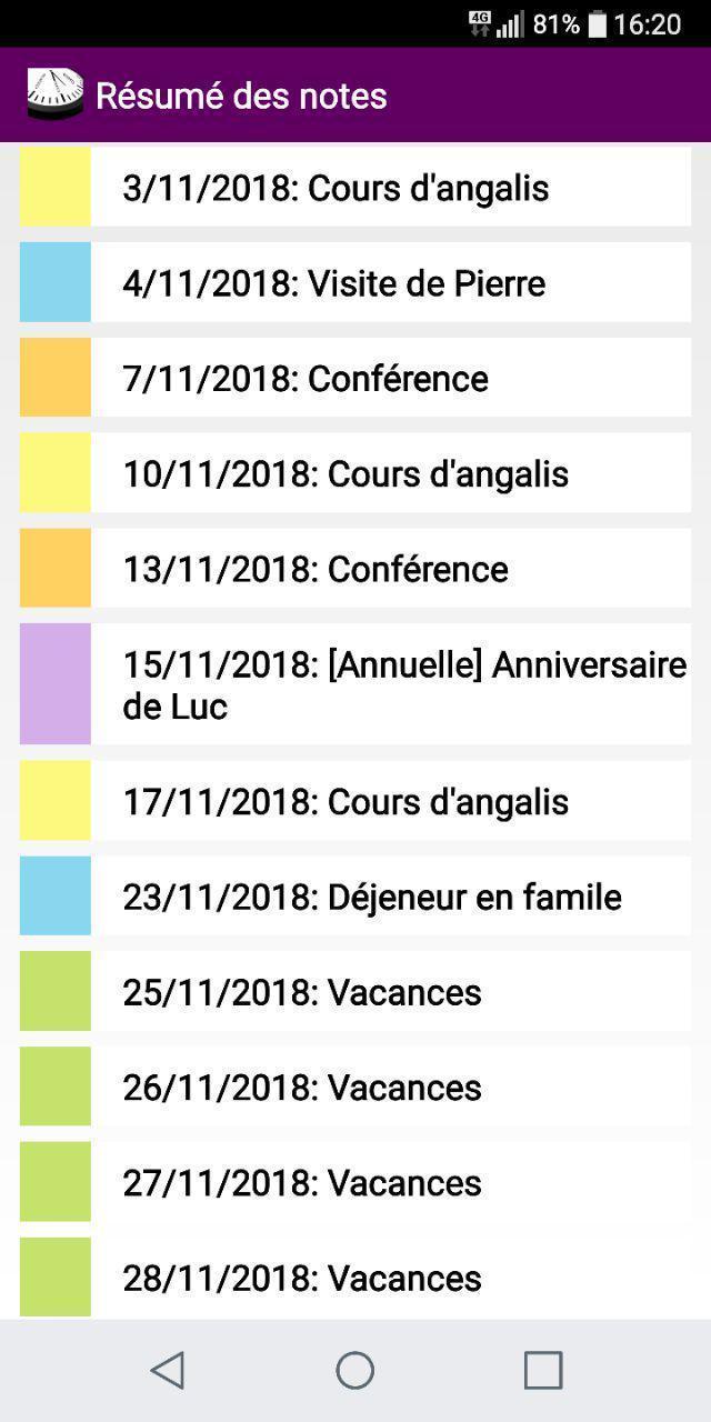 Français Calendrier 2021   Féries et Fêtes France for Android