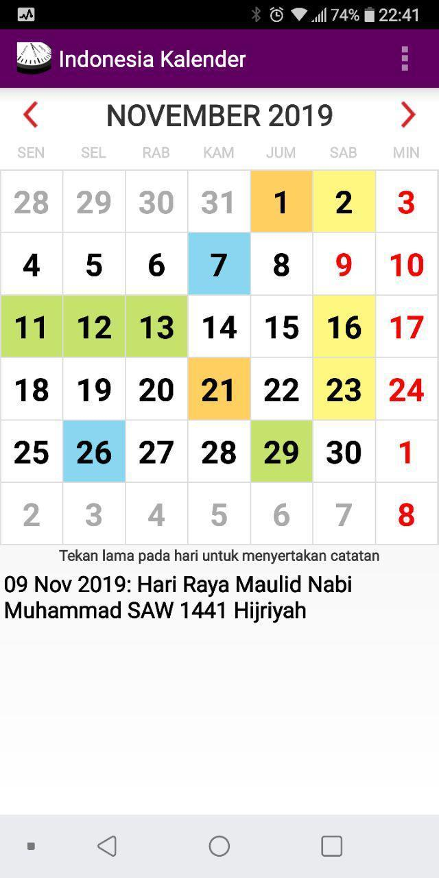 Kalender Indonesia Libur Nasional 2020 Pour Android