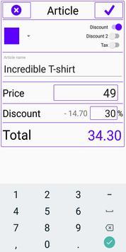 Emma discount calculator (sales and tax) screenshot 1