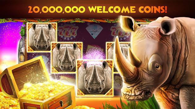 Rhino Fever: Free Slots & Hollywood Casino Games 포스터