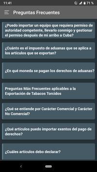 Normas Aduaneras de Cuba screenshot 5