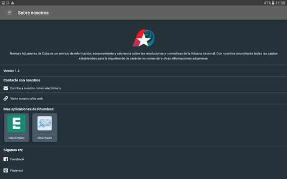 Normas Aduaneras de Cuba screenshot 7