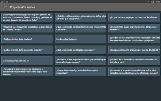 Normas Aduaneras de Cuba screenshot 8