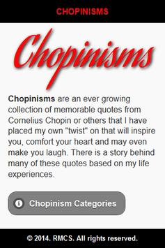 Chopinisms poster